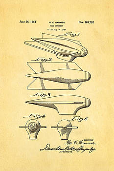 Ian Monk - Hammer Hood Ornament Patent Art 1951