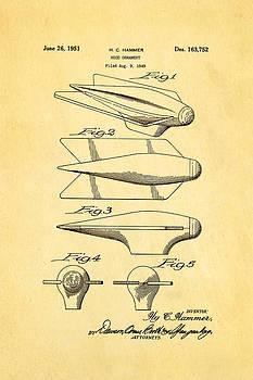 Hammer Hood Ornament Patent Art 1951 by Ian Monk