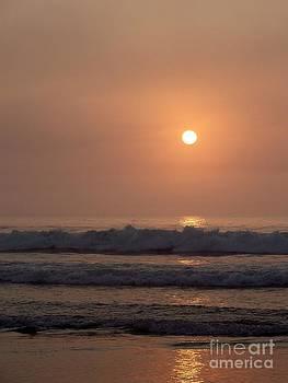 Hampton Beach In Morning Fog by Eunice Miller