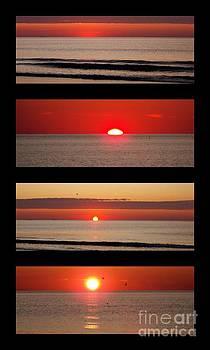 Hampton Beach Sunrise Collage by Eunice Miller