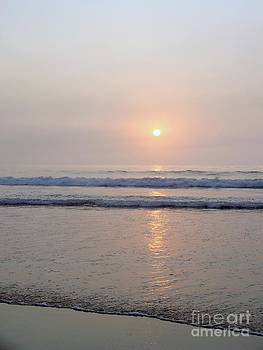 Hampton Beach Waves and Sunrise by Eunice Miller