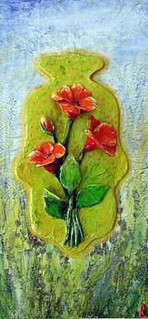 Hamsa with poppies by Raya Finkelson