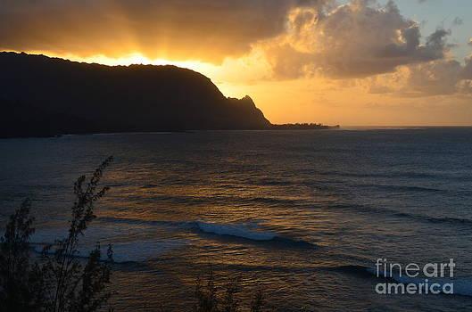 Hanalei Bay Sunset by Greg Cross
