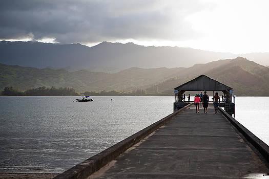 Hanalei Pier by Lannie Boesiger