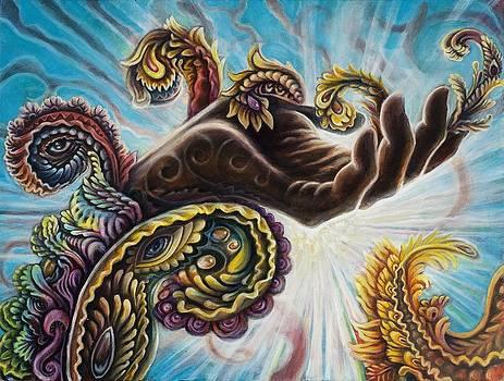 Hand of Lakshmi by Morgan Mandala and Randal Roberts