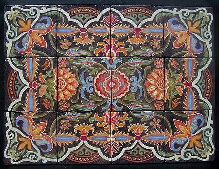 Hand Painted Tiles by Glenda Stevens