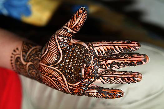Devinder Sangha - Hand tattooed with henna