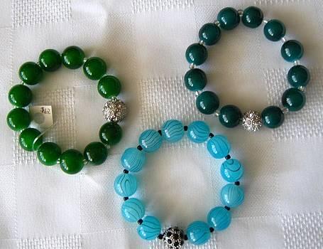 Handmade Bracelets with Rhinestone by Fatima Pardhan