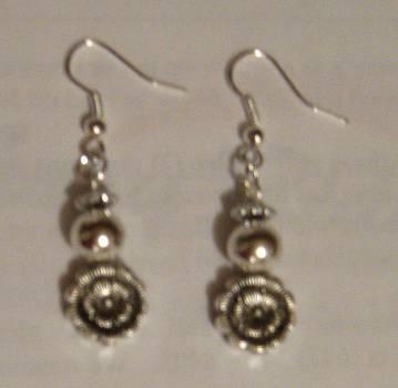 Handmade Flower Charm Earrings by Fatima Pardhan