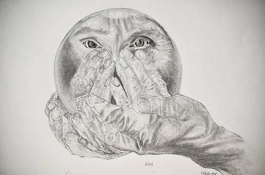 Hands holding Cristal Ball by Glenn Calloway