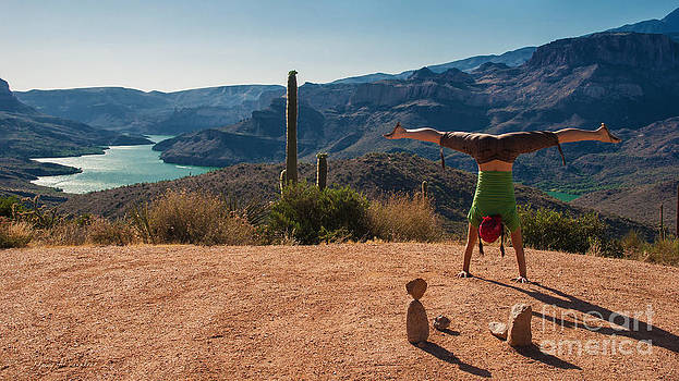 Handstand at Apache Lake by MAD Art and Circus