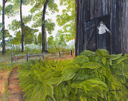 Hanging Tobacco by Linda Clark