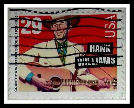 Hank Williams Postage Stamp by Gail Matthews