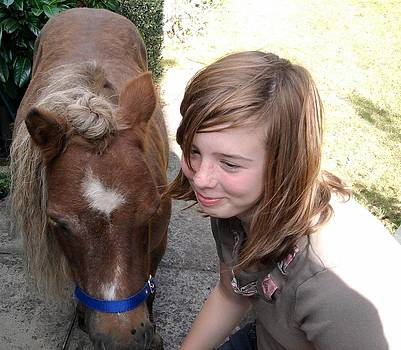 Hannah with Poppy by Geoff Cooper