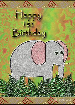 Jeanette K - Happy 1st Birthday Elephant