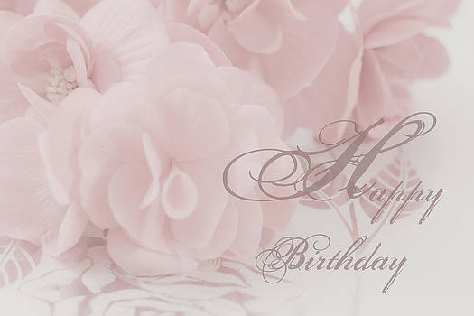 Sandra Foster - Happy Birthday Begonia Card