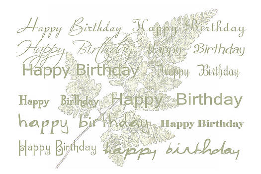Sandra Foster - Happy Birthday Card