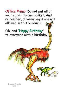 Happy Birthday Office Memo by Michael Shone SR