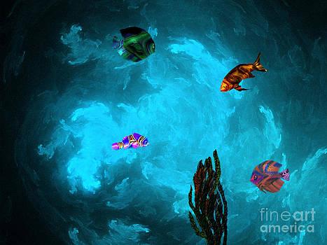 Happy Cave Fish by Elizabeth S Zulauf