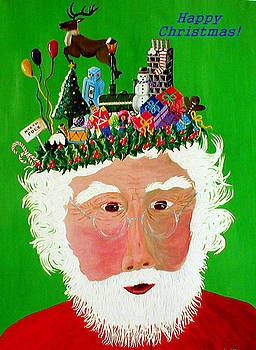 Happy Christmas Santa by Sandy Wager