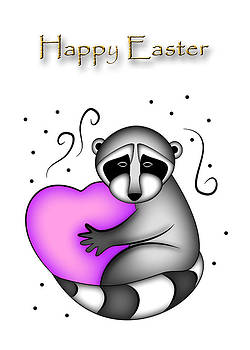 Jeanette K - Happy Easter Raccoon