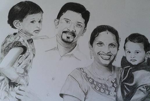 Happy family by Bindu N
