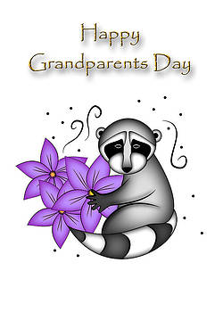Jeanette K - Happy Grandparents Day Raccoon
