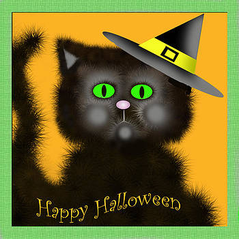 Happy Halloween Kitty by Dawn  Gagnon