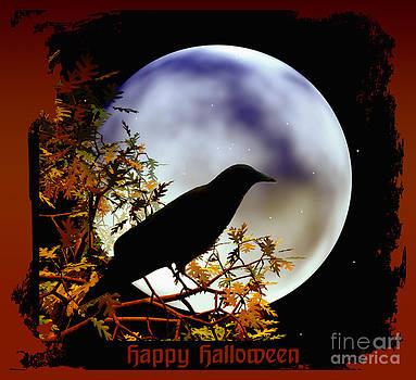 Eva Thomas - Happy Halloween Moon and Crow