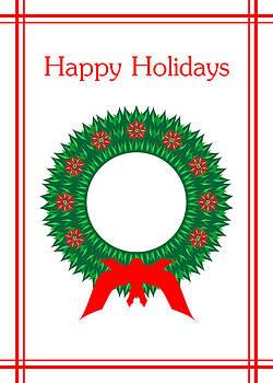Happy Holiday Wreath by Joel Dynn Ingel Rabina