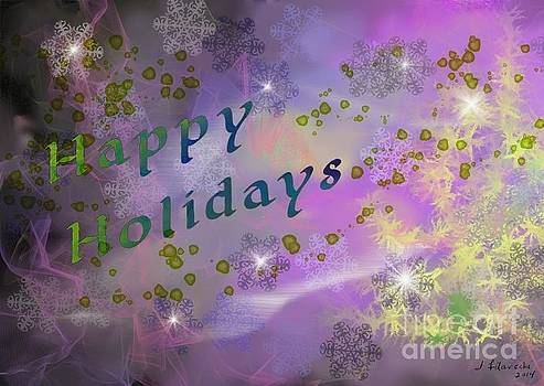 Happy Holidays Card by Judy Filarecki
