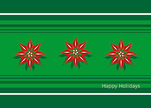 Happy Holidays Poinsettias by Joel Dynn Ingel Rabina