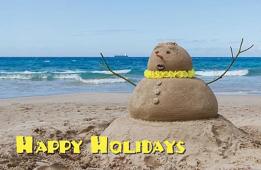 Happy Holidays Sandman by Denise Bird