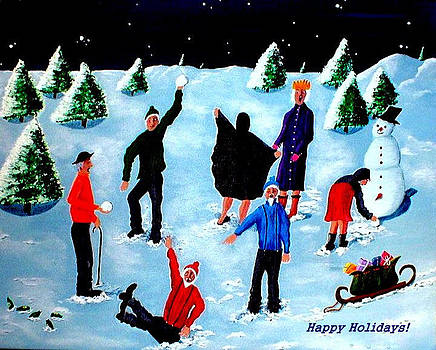 Happy Holidays by Sandy Wager