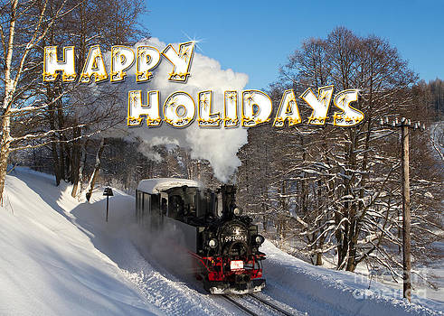 Happy Holidays Steam Train by Christian Spiller