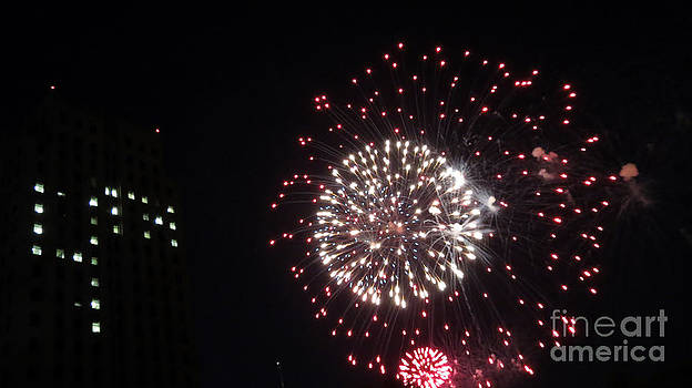 Happy July Fourth Fireworks by Ausra Huntington nee Paulauskaite