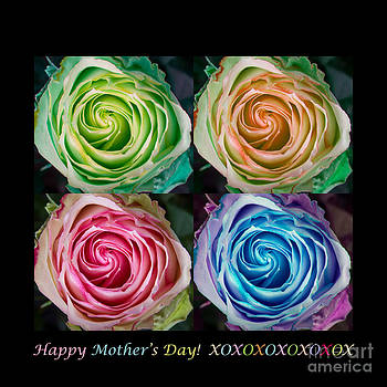 James BO  Insogna - Happy Mothers Day Hugs Kisses and Colorful Rose Spirals