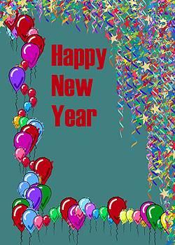 Usha Shantharam - Happy New Year card