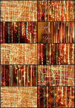 Happy New Year Collage  by Julia Fine Art And Photography