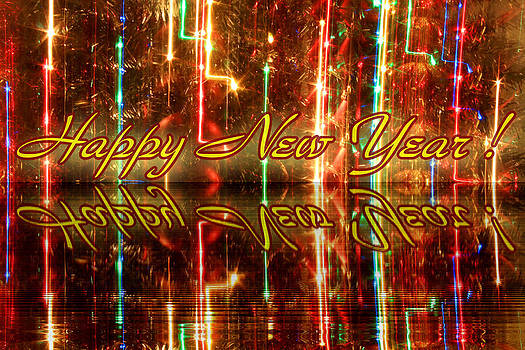 Happy New Year Greeting Card by Julia Fine Art And Photography