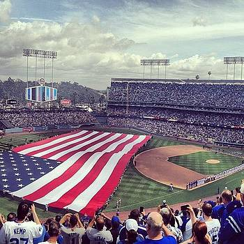 Happy #openingdayla! Lets Go Dodgers! by Andres Cruz
