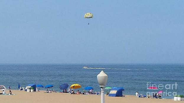 Paddy Shaffer - Happy Paraglider Over Virginia Beach