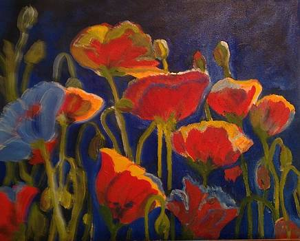 Happy Poppies by Susan Hanning