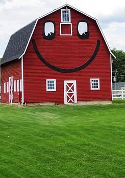 Happy Red Barn by Jennifer Fliegel