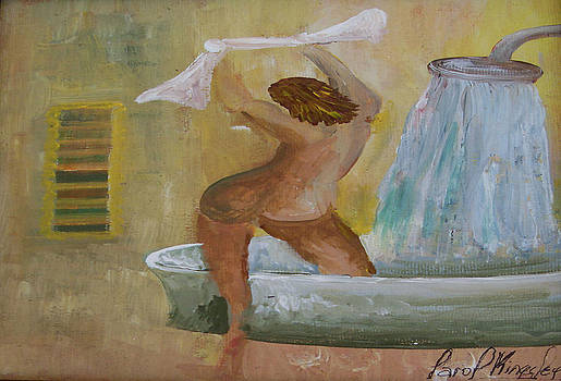 Happy shower day by Carol P Kingsley