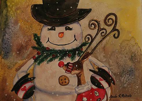 Happy Snowman by Freda Nichols