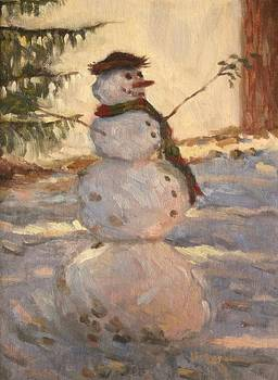 Happy Snowman by Jeff Dickson