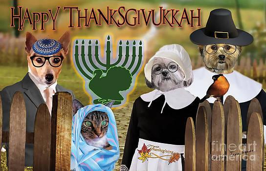 Happy Thanksgivukkah -1 by Kathy Tarochione