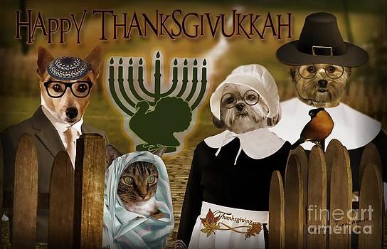 Happy Thanksgivukkah -4 by Kathy Tarochione
