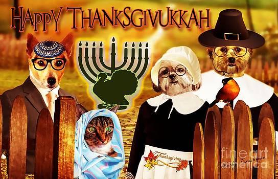 Happy Thanksgivukkah -5 by Kathy Tarochione